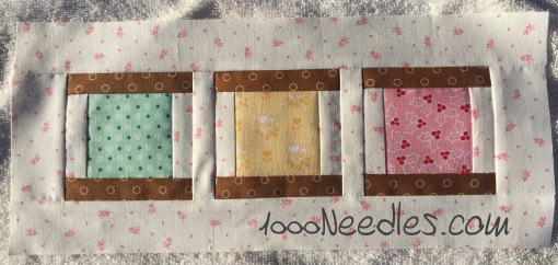 Have yourself a little quilty Christmas! August kit -  Block 2 8/19/2016
