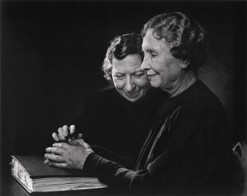 Helen Keller and Polly Thompson, 1948 by Yousuf Karsh