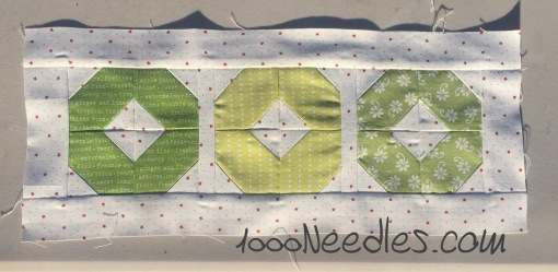 Have yourself a quilty little Christmas! September Kit Block 1 9/23/2016