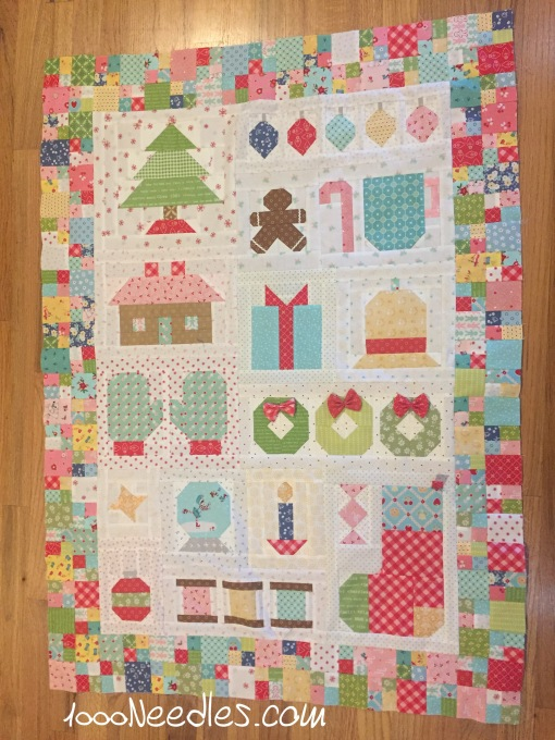 Have yourself a quilty little Christmas! Top is finished! :)  2/24/2017
