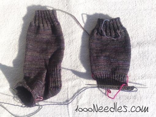 Purple/gray socks 2/28/17